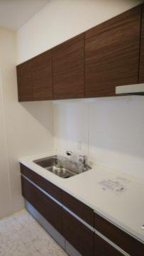 2DKマンションのキッチン
